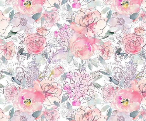 Sweetheart Floral Face Masks, poplin cotton