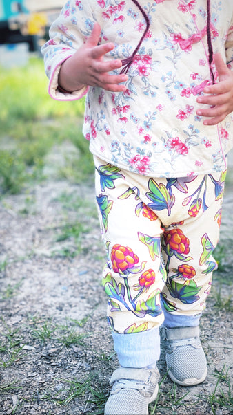 Salmonberries Grow-with-me Pants