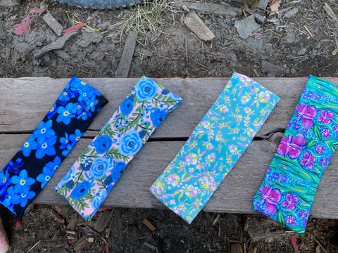 Set of 4 Floral Themed Headbands