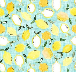 Face Masks, Lemons , poplin cotton