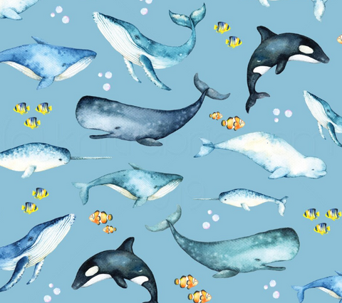 Whales and Nemo Grow-with-me Pants