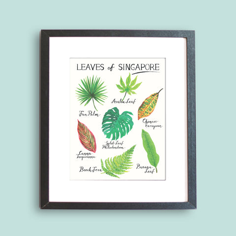 Leaves of Singapore Art Print