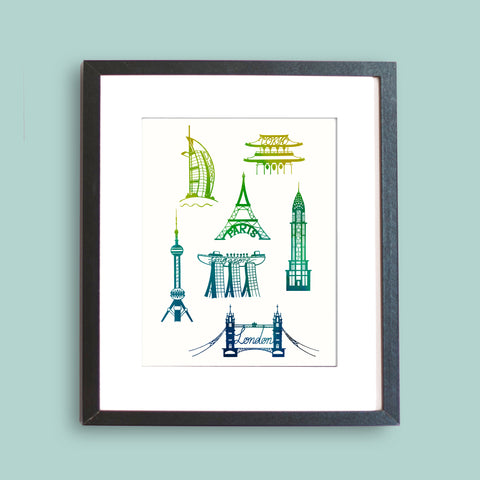 Iconic Cities Art Print