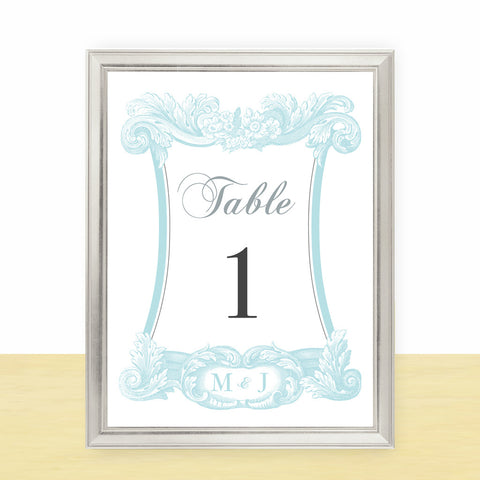 Modern Rococo Table Number
