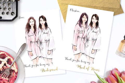 Personalised Bridesmaid Cards