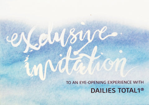 Dailies Contact Lens Launch Invite