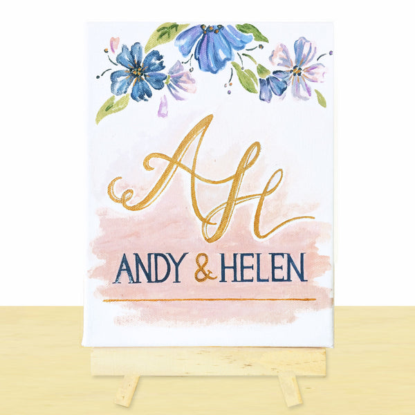 Mini Canvas Wedding Signs