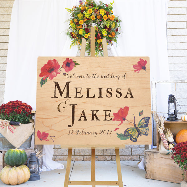 Woodland Wedding Hand-Painted Sign