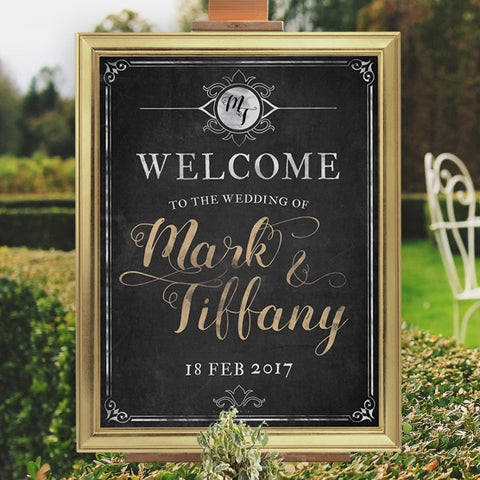 Personalised Chalkboard Look Sign