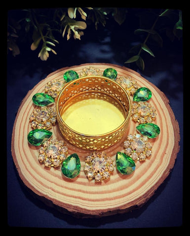 Diya 10 ~Floral Clear Gold Plus Colors