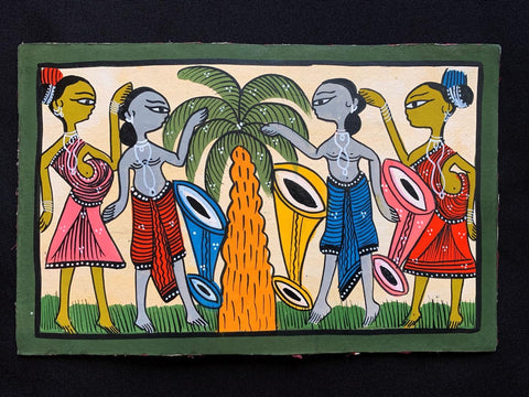 "Hand Painting West Bengal 7"" * 11"""