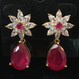CZ Earrings 1""