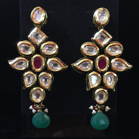 Jadau Earrings 3""