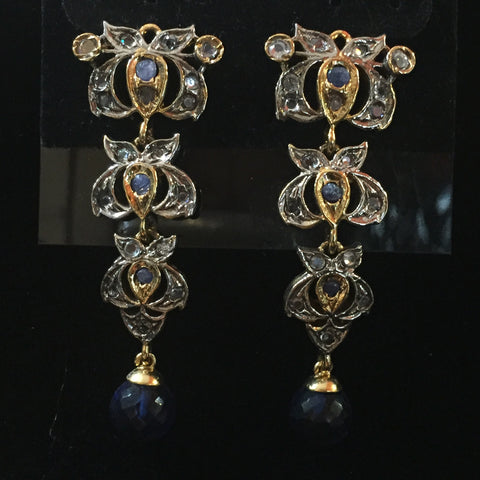 CZ Earrings 2""