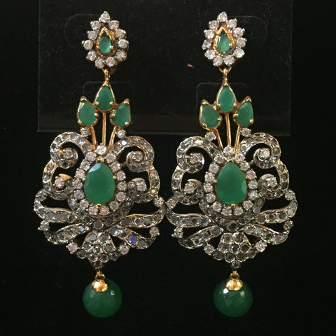 CZ Earrings 3""