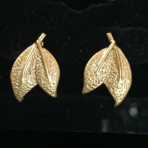 Matte Gold Earrings