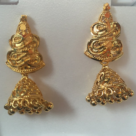 Gold Touch Earrings 1.5""