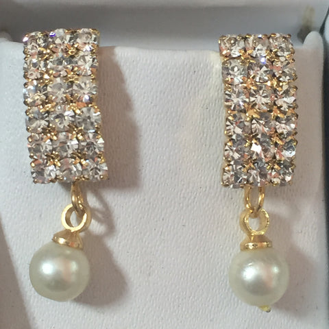 Gold Touch Earrings 1""