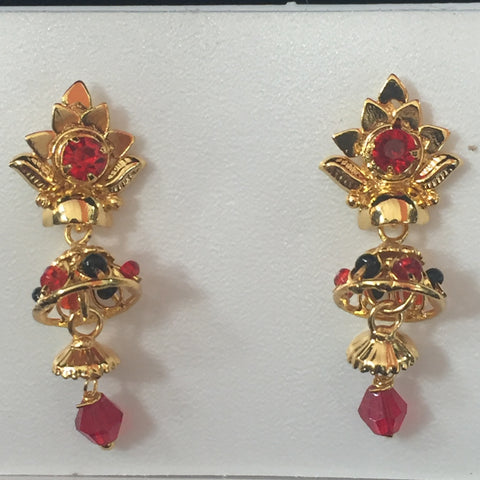 Gold Touch Earrings 1.25""