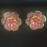 Floral CZ Earrings