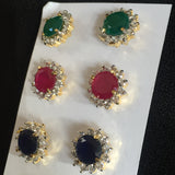 Crystal Earrings 4 Pair Package