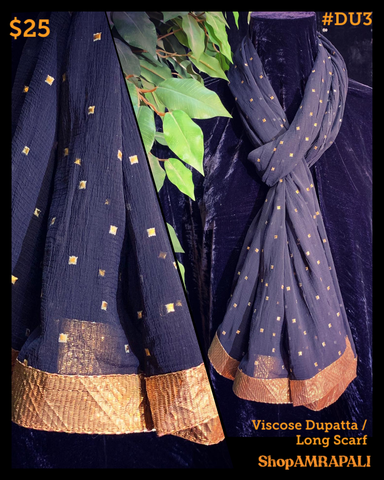 Viscose Dupatta  - With Foil Print