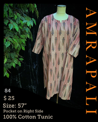 100% Cotton Tunics - Size 57