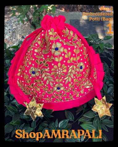 Hand Embroidered Potli Bags