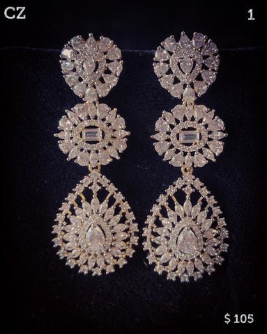 Earrings 1 ~ Cubic Zirconia CZ (Set 2)
