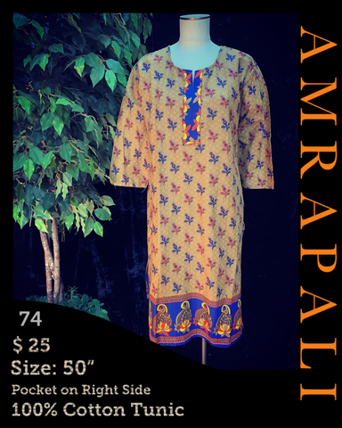 100% Cotton Tunics - Size 50