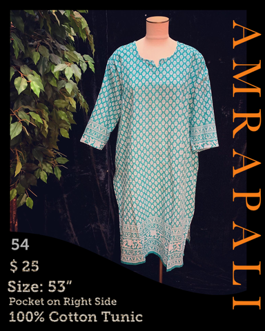100% Cotton Tunics - Size 53