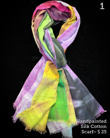 $25 Cotton/Silk Scarves & Stoles