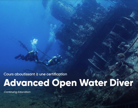 Cours de plongée Advanced Open Water Diver PADI
