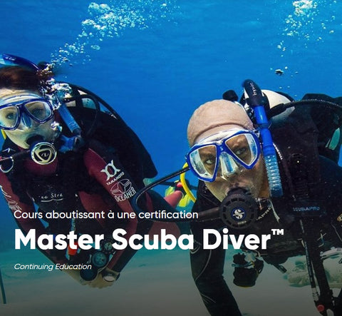 Inscription Master Scuba Diver PADI