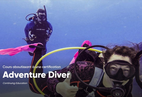 Inscription Adventure Diver PADI