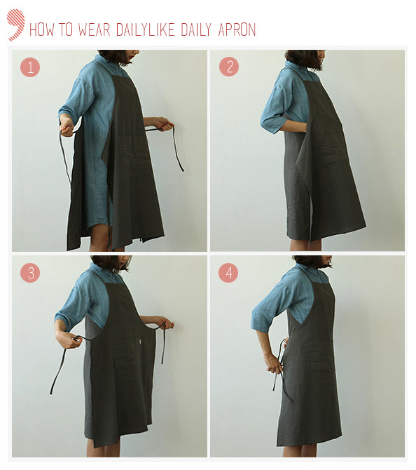 how to wear daily apron