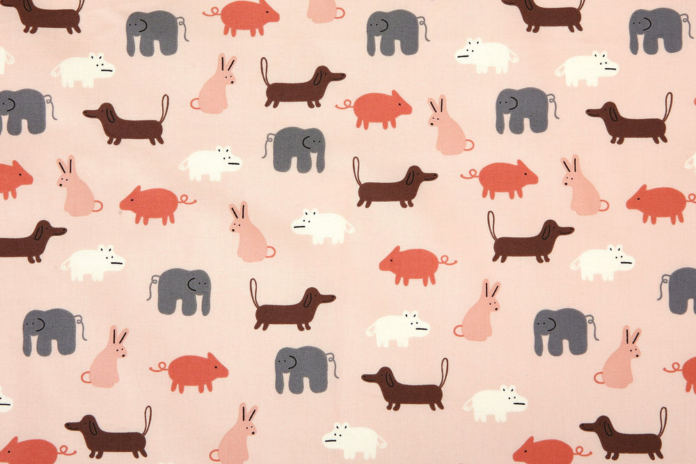 "Design Fabric (Organic Cotton 20C - GOTS Certified) : Yaar - Pink 42"" Wide - Dailylike Canada"