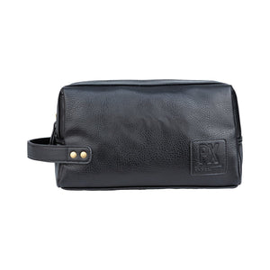Black Vegan Leather Dopp Kit