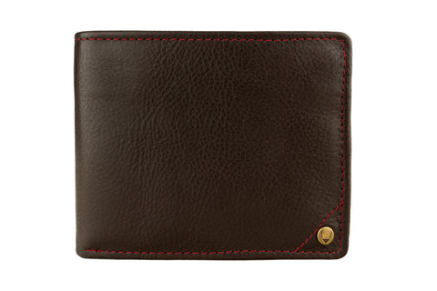 Mens Angle Stitch Leather Multi-Compartment Leather Wallet