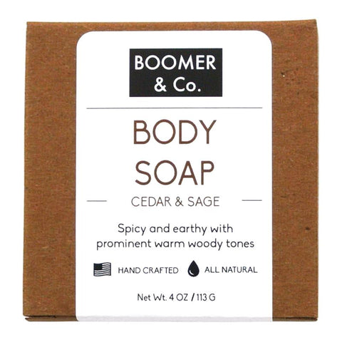 Cedar & Sage Soap Bar - Boomer & Co.
