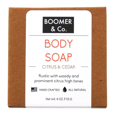 Citrus & Cedar Soap Bar - Boomer & Co.