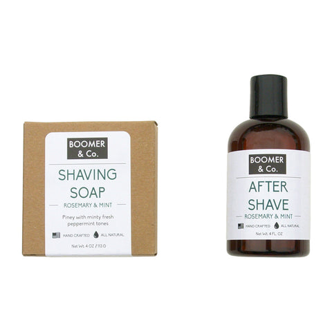 rosemary and mint shaving kit