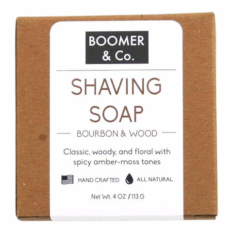 Bourbon and Sandalwood Shaving Soap Bar