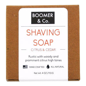 Citrus & Cedar Shaving Soap Bar - Boomer & Co.
