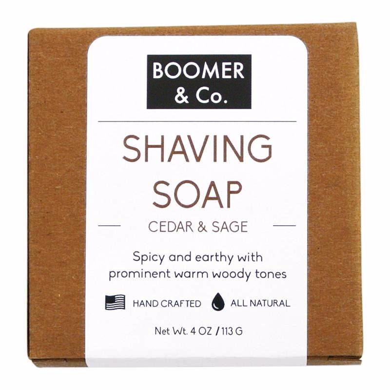 Cedar & Sage Shaving Soap Bar - Boomer & Co.