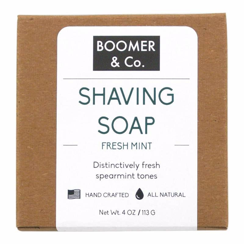 Fresh Mint Shaving Soap Bar - Boomer & Co.