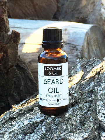 All natural fresh mint beard oil