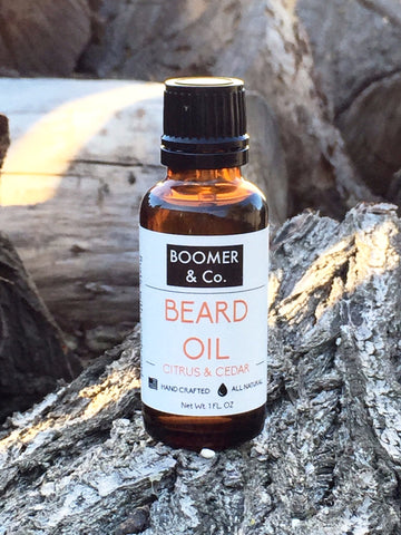 all natural citrus and cedar beard oil