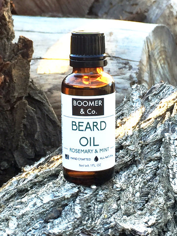 All natural rosemary and mint beard oil