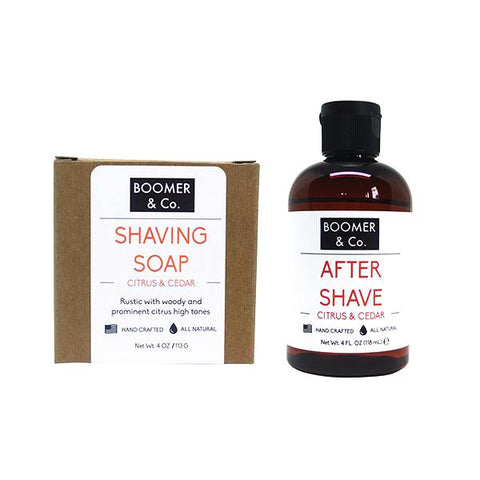 Citrus & Cedar Shaving Kit - Boomer & Co.